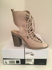 Dolce Vita Lira Sand Color Suede Lace up Open Toe Bootie Sandals Size 7m
