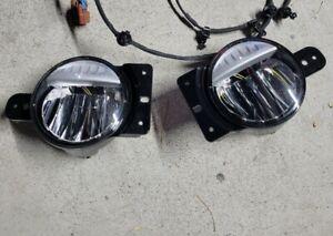 JEEP WRANGLER JL GLADIATOR JT LED Fog Light Kit w/ Brackets NEW OEM MOPAR 3 hole