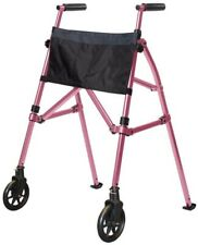 Stander Walker Mobility Medical Walking Folding Portable EZ Fold N Go Women Pink