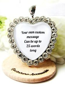 Personalised Custom Wedding Bouquet Charm Flower Girl Bridesmaid Maid Of Honour