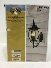 Hampton Bay 3-Light Black Outdoor Wall Mount Lantern New Other