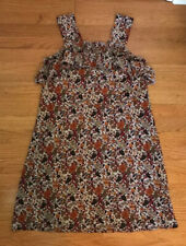 Madewell x Karen Walker Silk Floral Rosalie Ruffled Dress Size 0 XS/S no belt