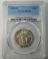 1928 D Standing Liberty Quarter - PCGS Certified MS66 !!