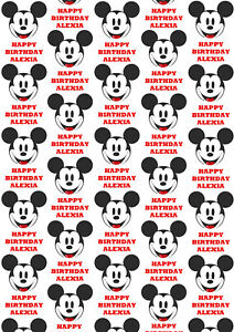 Mickey Mouse Personalised Gift Wrap - Disney's Mickey Mouse Wrapping Paper - D2