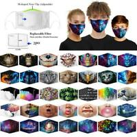 Funny Washable Facemask Half Face Mouth Mark HipHop Cospaly Party Mask US LQD