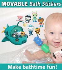 Octonauts Bath Bathroom Ceramic Tile Glass Reusable Stickers Decals