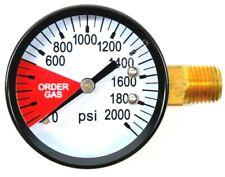 Co2 High Pressure Gauge 0 2000 Psi 14 Npt Rh Threads Beer Soda Keg System