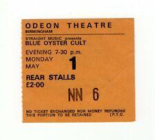 Blue Oyster Cult Spectres Tour Ticket Birmingham 1978