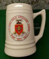 Vintage US Army Field Artillery School Fort Sill OK Ceramic Beer Mug Tankard