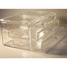 New Big Clear Acrylic Cosmetic Jewellery Makeup Organiser Box Storage 4 Drawer