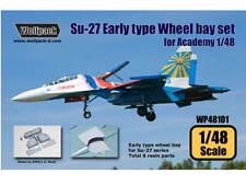 Wolfpack Diseño 1/48 WP48101 Su-27 conjunto de Bahía de rueda tipo accionariado temprano para Academia