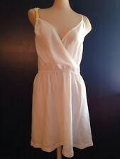 Kim Kardashian Kollection White Gold Bar Dress Sundress SEXY Back XL Large