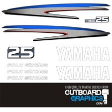Yamaha 25hp four stroke outboard engine decals/sticker kit
