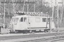 AK UNREAD Morop Congress; Sweden litt. qgzä Baden Model järnvägs (G2564)