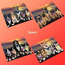 Family Sunset Dog Cat Small Mini Magnet, Pet Photo Lovers Gift Home Decor