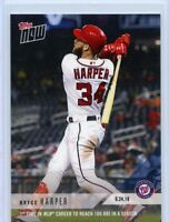 2018 TOPPS NOW BRYCE HARPER 100 RBI FOR THE 1ST TIME #776