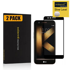 [2-Pack] SOINEED Full Cover Tempered Glass Protector for LG K20 Plus/ K10 (2017)