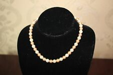 VINTAGE Genuine 8mm Round Mix Color South Sea Shell Pearl Necklace 18'' Jewelry