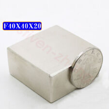 Block 40mm X 40mm X 20mm Super Strong N50 Rare Earth Neo Neodymium Magnets