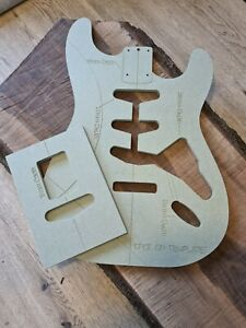 Stratocaster Guitar Body and neck pocket Template 9mm MR MDF