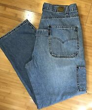 VTG Levi's Carpenter Jeans Size 36x33 Medium Wash Faded Baggy