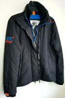 SUPERDRY WINDCHEATER MENS JACKET M BLACK BLUE QUILTED HEATED 120