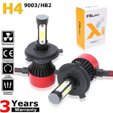 Pair H4 LED Bulbs Hi/Lo Beam 198000LM Headlight Conversion Kit Lamp 9003 HB2 90W