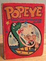 Popeye Big Little Book 1967 Ghost Ship To Treasure Island Hard Cover HC Comic