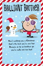 Brother Happy Christmas Greeting Card Embellished Dib Dab Xmas Cards