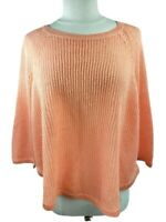Eileen Fisher Linen Sweater Size XLarge Peach Loose Knit Textured Oversized