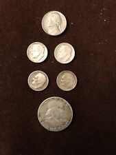 New ListingMixed Lot 6 Silver Us Coins: 1962 Half Dollar, Dimes (4) and 1964 Nickel.