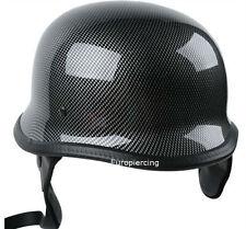 Casco moto clasico aleman fibra de carbono,Motorcycle helmet carbon fiber
