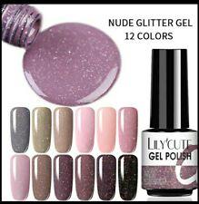 Smalto Gel UV Per Unghie Glitterato 7 ml  *LILYCUTE* Disponibile in vari Colori!