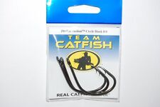 team catfish hooks real gear double action circle hook 8/0 tc81z carbon steel