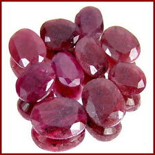 105+ CARAT NATURAL AFRICAN RED RUBY OVAL FACETED RING SIZE WHOLESALE GEM LOT-