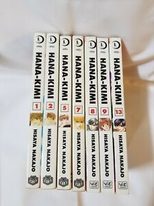 Hana Kimi Manga Lot Volumes 1 2 5 7 8 9 13 Hisaya Nakajo Viz Media