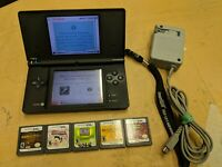 GOOD Nintendo DSi Console Black System TESTED With Charger, +5 Games BUNDLE/LOT