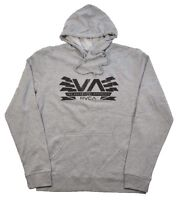 RVCA CHARGED VA Athletic Heather Black Screenprint Sweater Pullover Men's Hoodie