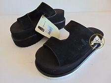 Vintage 90 SANUK 34 4 Sandalo Ciabatte Alte Basse Nero Donna Girl