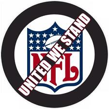 """protest boycott NFL STAND - decal sticker window truck - SET OF 3 - 5.5"""" Each"""