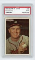 1953 Bowman Color #37 Jim Wilson PSA 5 Excellent Boston Braves Sharp Card