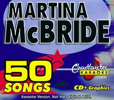 Chartbuster 5064 Martina McBride Karaoke Cd+G 3 Disc Box Set 50 Songs New