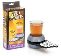 SHOT SPINNER DRINKING GAME ADULT STAG & HEN PARTY PUB FUN INCLUDES GLASS 21639