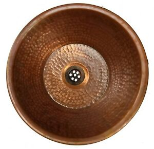 Vintage Industrial Style Rustic Bronze Pure Copper Dome Bathroom Overmount Sink