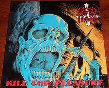 Blood Feast - Kill For Pleasure LP / Splatter Vinyl / New RE (2015) Thrash Metal