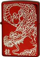 Zippo Rampage Dragon Kanji Etching Silver Red Ion Coating Japan Limited F/S Cool