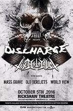 DISCHARGE/TOXIC HOLOCAUST 2016 VANCOUVER CONCERT TOUR POSTER-Hardcore Punk Music