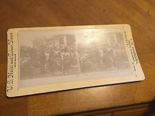 Antique Vintage C1898 Ingersoll St.Paul  Stereoview Insurgent Cannon and Outpost