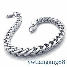 "New Design 100% Stainless Steel Men's Link Bracelet ,Fashion Jewellery 9.44"" 6mm"