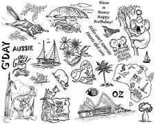 Unmounted Rubber Stamps Sheets, Australia, Sailboat, Aussie, Sayings, Koala Bear